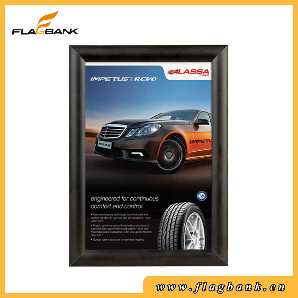 Exhibition Silver Aluminium Mitred Corner Snap Frame/Poster Frame