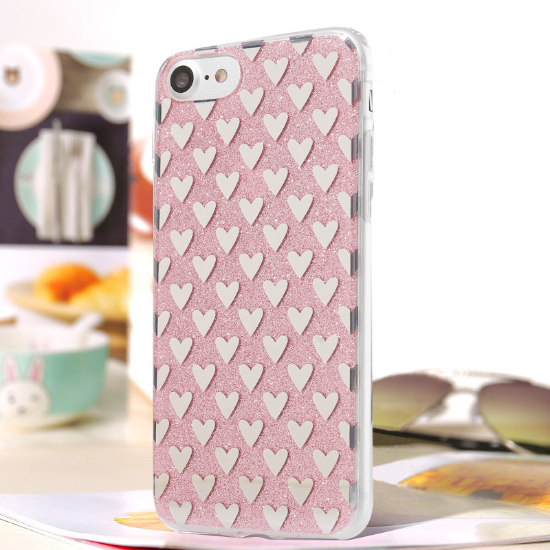 iPhone Cell-Mobile Phone Case TPU Flash Powder Cover