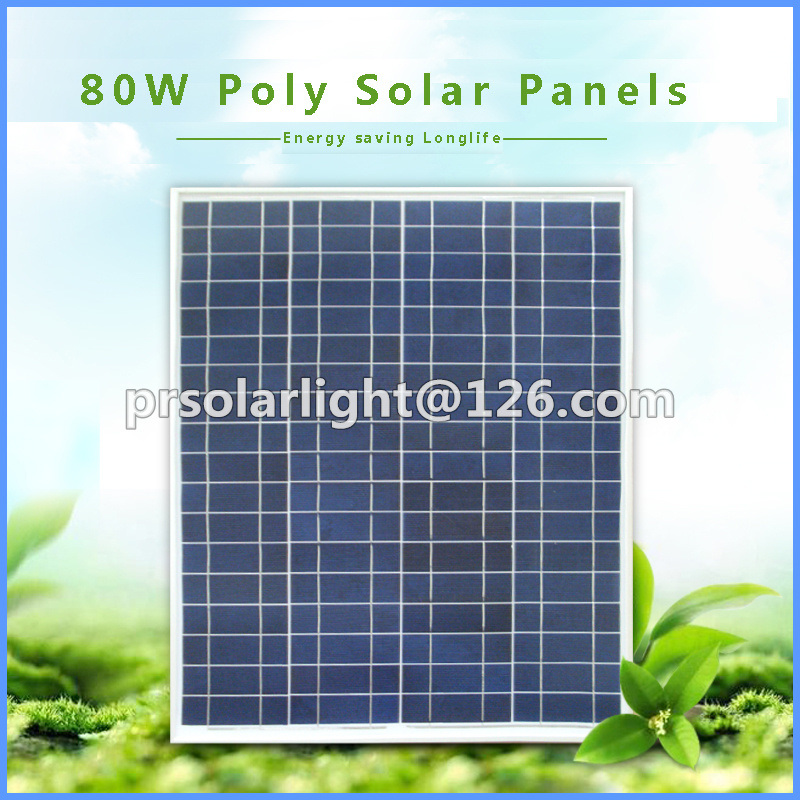80W High Efficiency Poly Renewable Energy Saving Photovoltaic Module