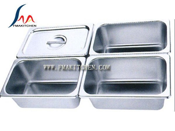 European Style Gn Pan, Stainless Steel Gastronorm Pan, G/N Pan, Gastronorm Container, Many Size, with Lid/Cover