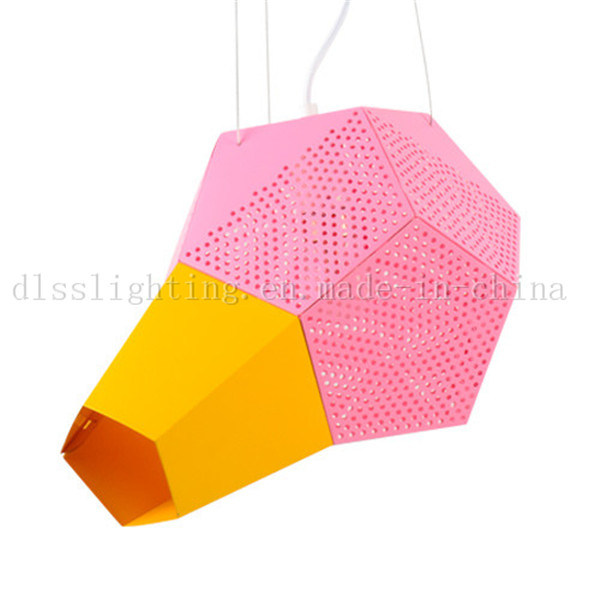 Modern Creative Design Aluminum Pink&Yellow Pendant Lighting for Coffee Shop Chandelier