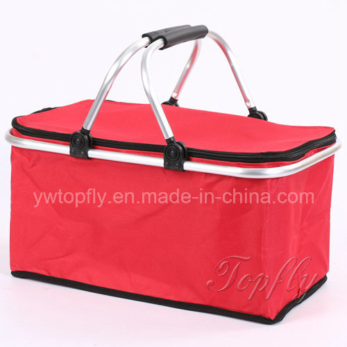 Wholesale Foldable Portable Cooler Basket Picnic Basket Shopping Basket