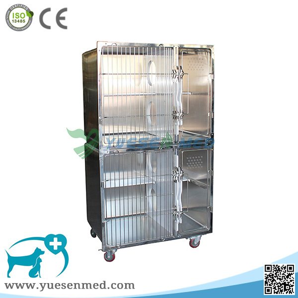 Yuesenmed Veterinary Hospital Medical Stainless Steel Pet Dog Bird Cage
