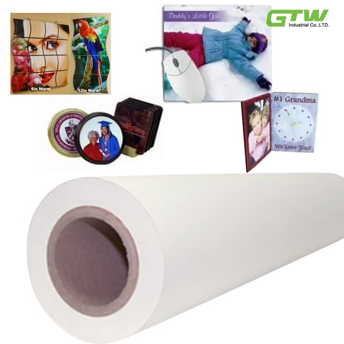 "Quick Dry 60GSM Sublimation Transfer Paper in 63"" Size for Textiles"