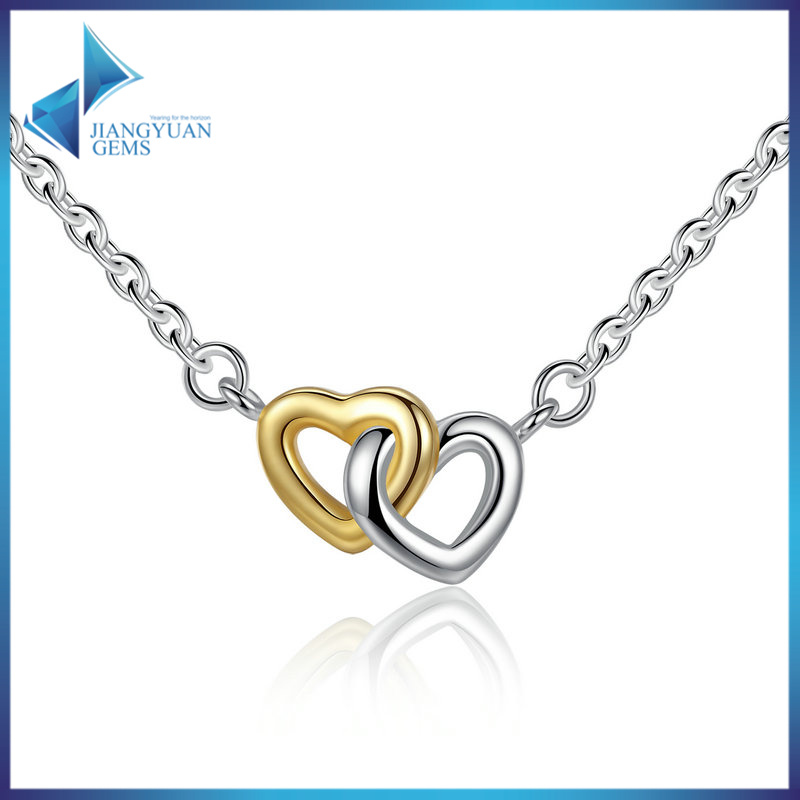 925 Sterling Silver United in Love Silver & Small Chain Necklace