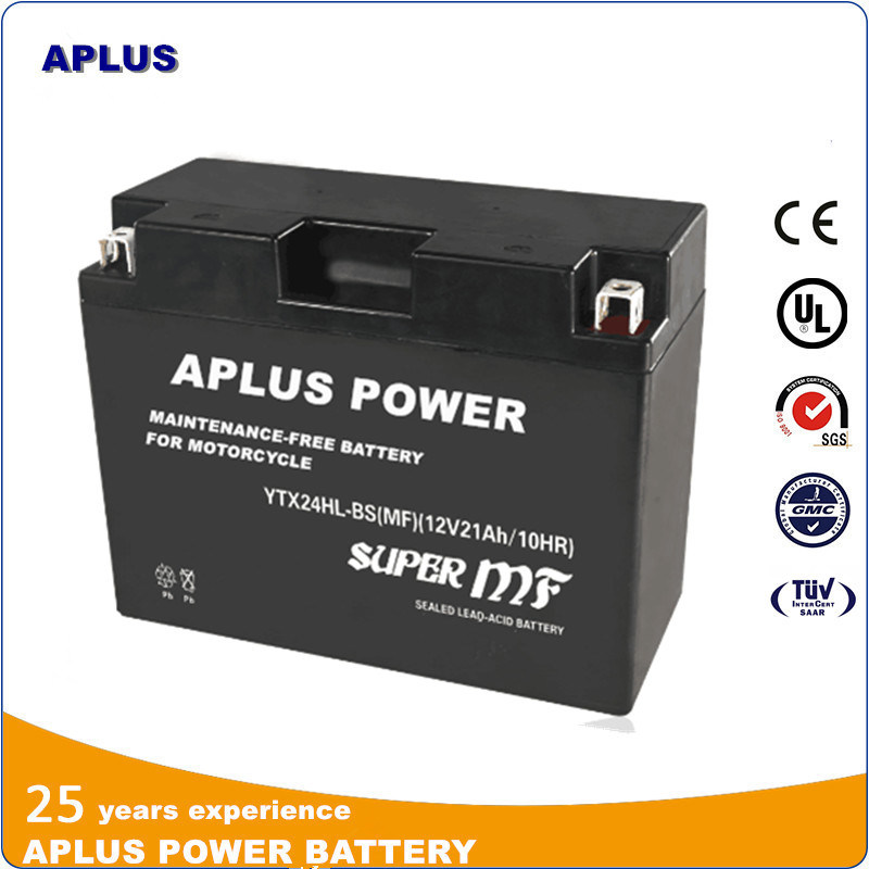 Lead Acid AGM Batteries for Mf Motorcycle Ytx24hl-BS 12V 18ah