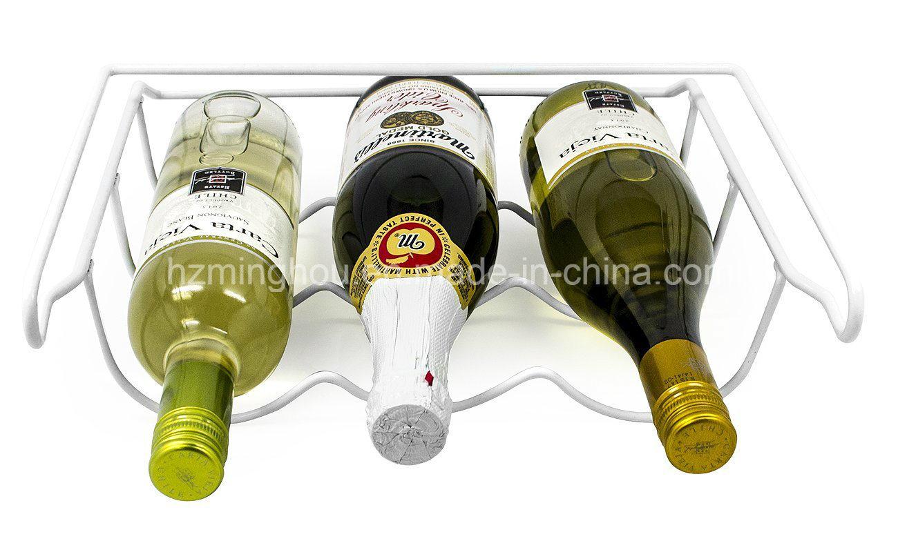 3 Bottle Drink Universal Metal Fridge Wine Bottle Storage Rack