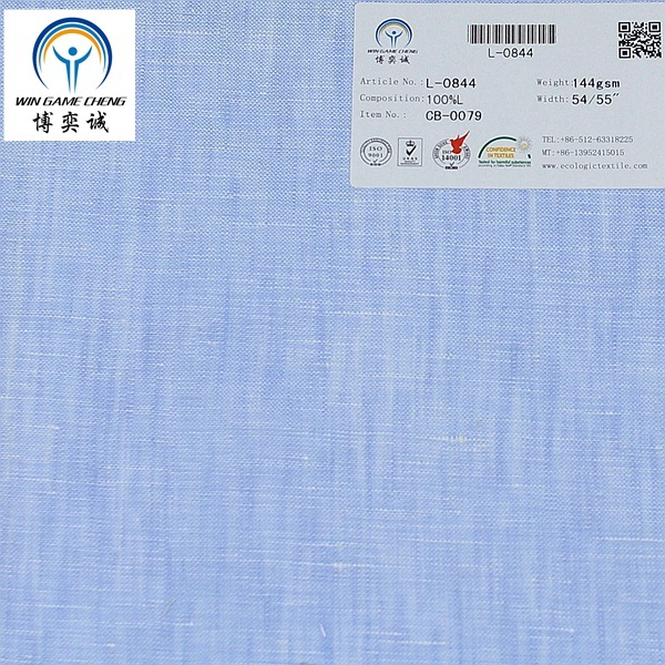 17*21 Yarn Dyed Pure Linen Fabric