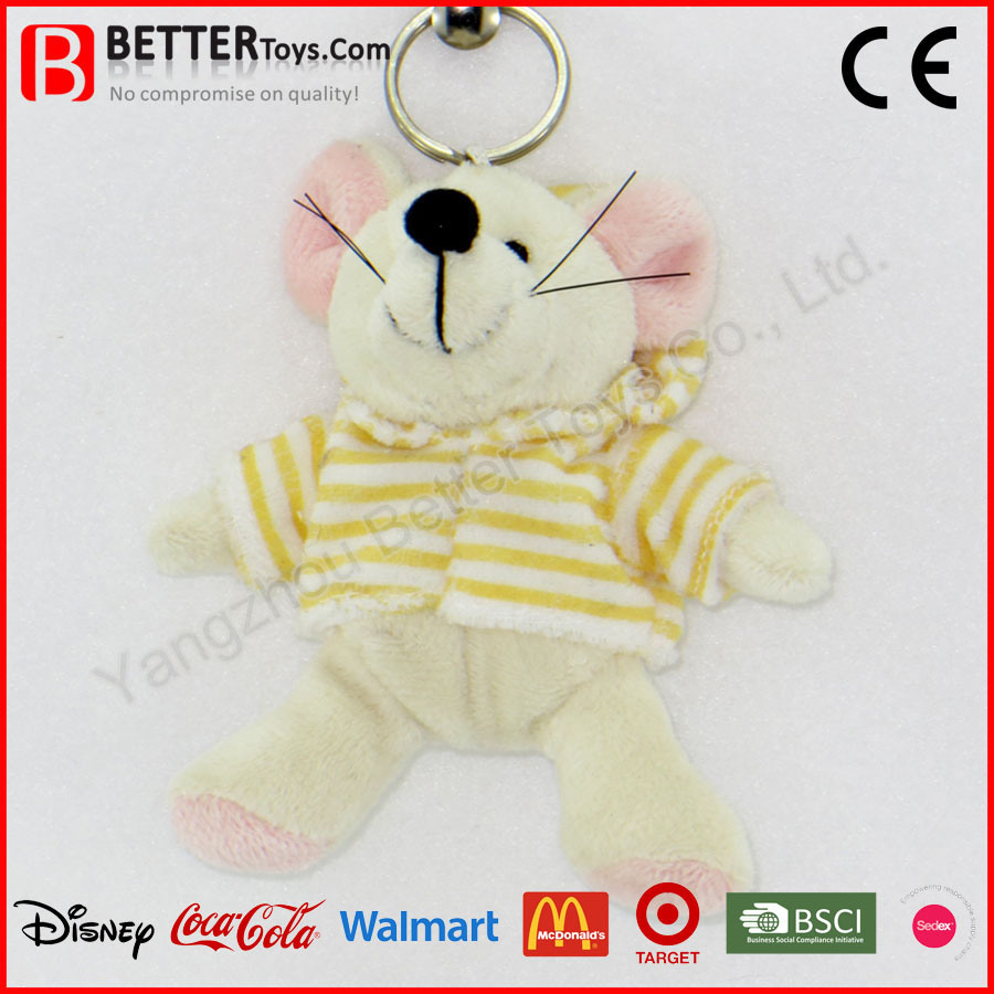Cheap Stuffed Mouse Keyring Plush Animal Rat Keychain