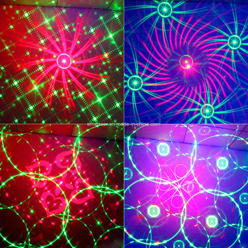 LED Laser Light Mini Laser Multi Patterns Effect LED RGB Laser Disco Light