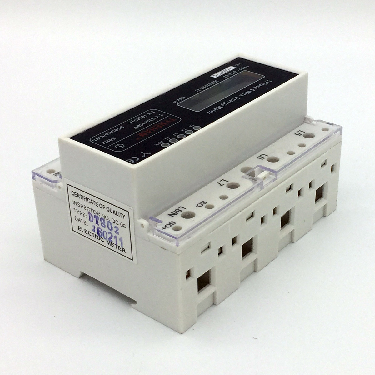 Dts-4 Series DIN Rial Mounted Three Phase Electronic Energy Meter