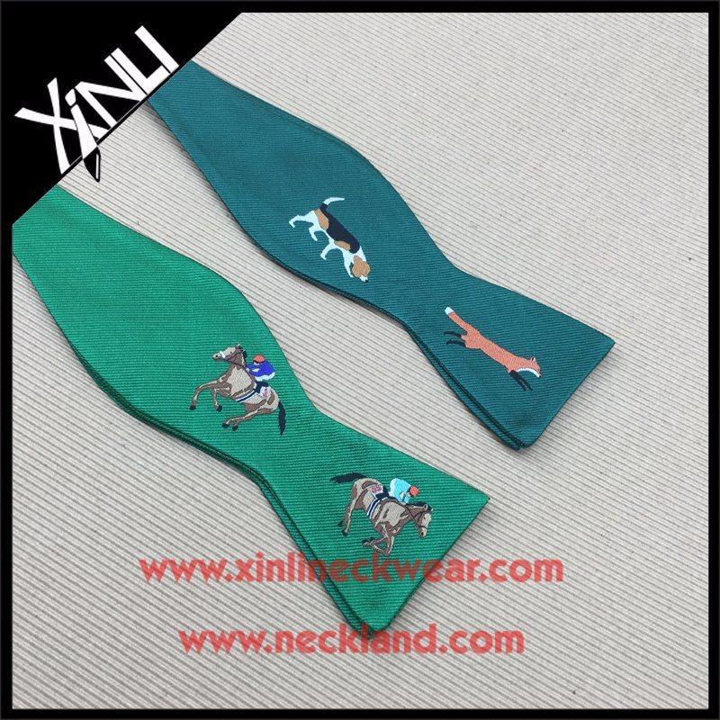 Silk Woven Self Wine Bottle Bow Tie with Custom Logo