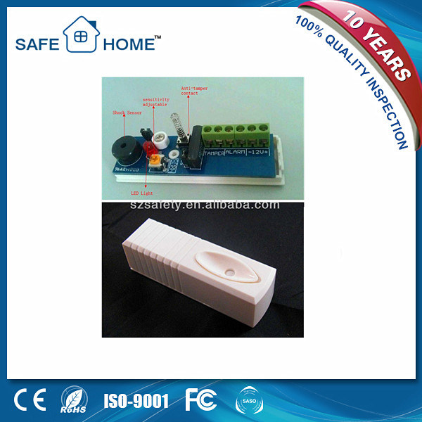 Home Security Alarm System 12V Sensitive Micro Vibration Window Alarm (SFL-971)