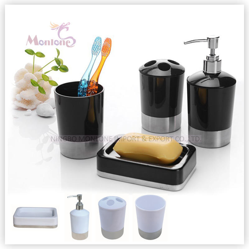 Bathroom Supplies Accessories Set of 4 with Toothbrush Cup