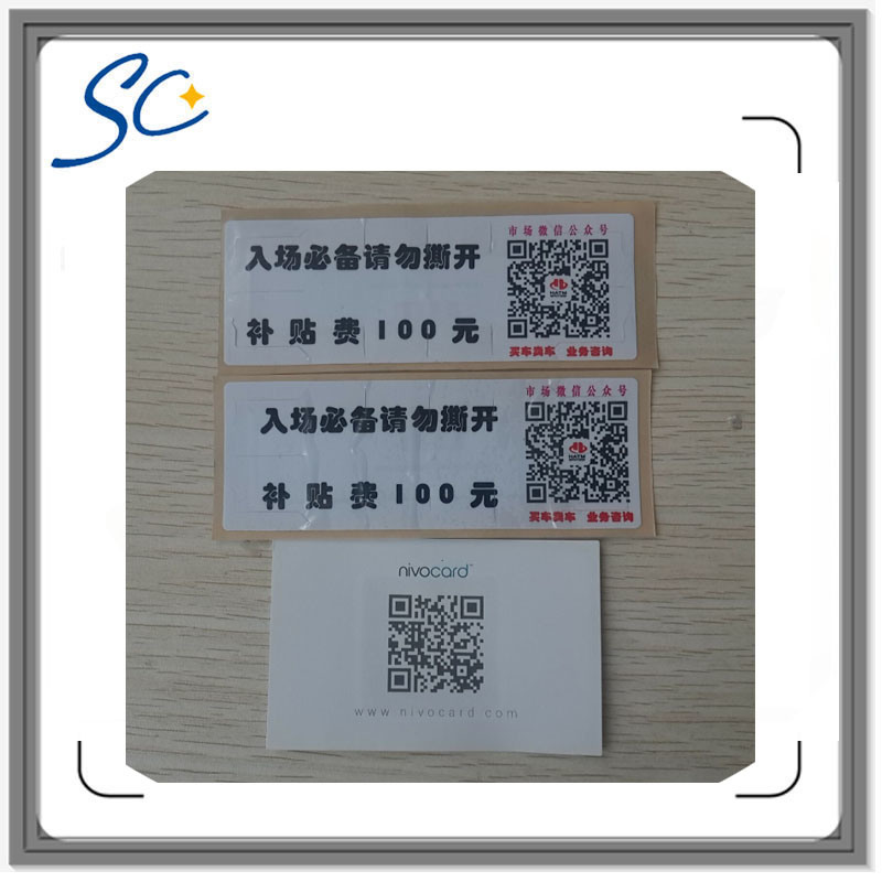 Custom RFID Label with Qr Code Printing