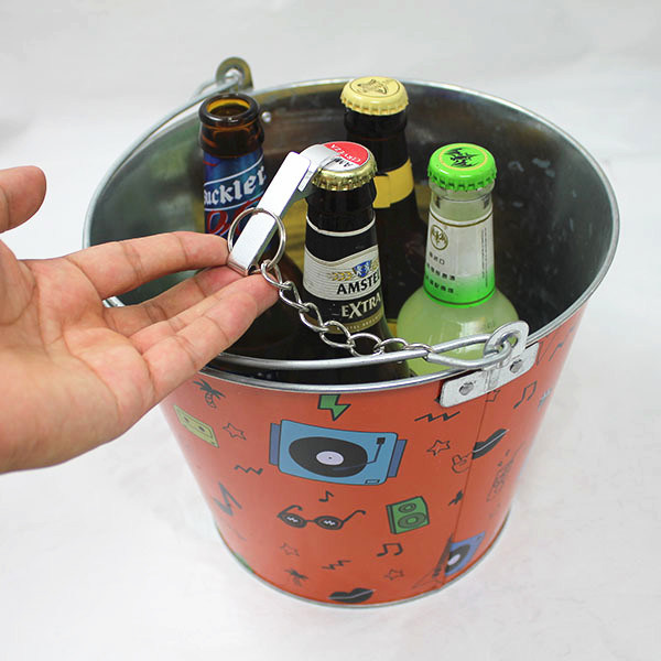 Green Color Metal Ice Tin Beer Cooler Bucket