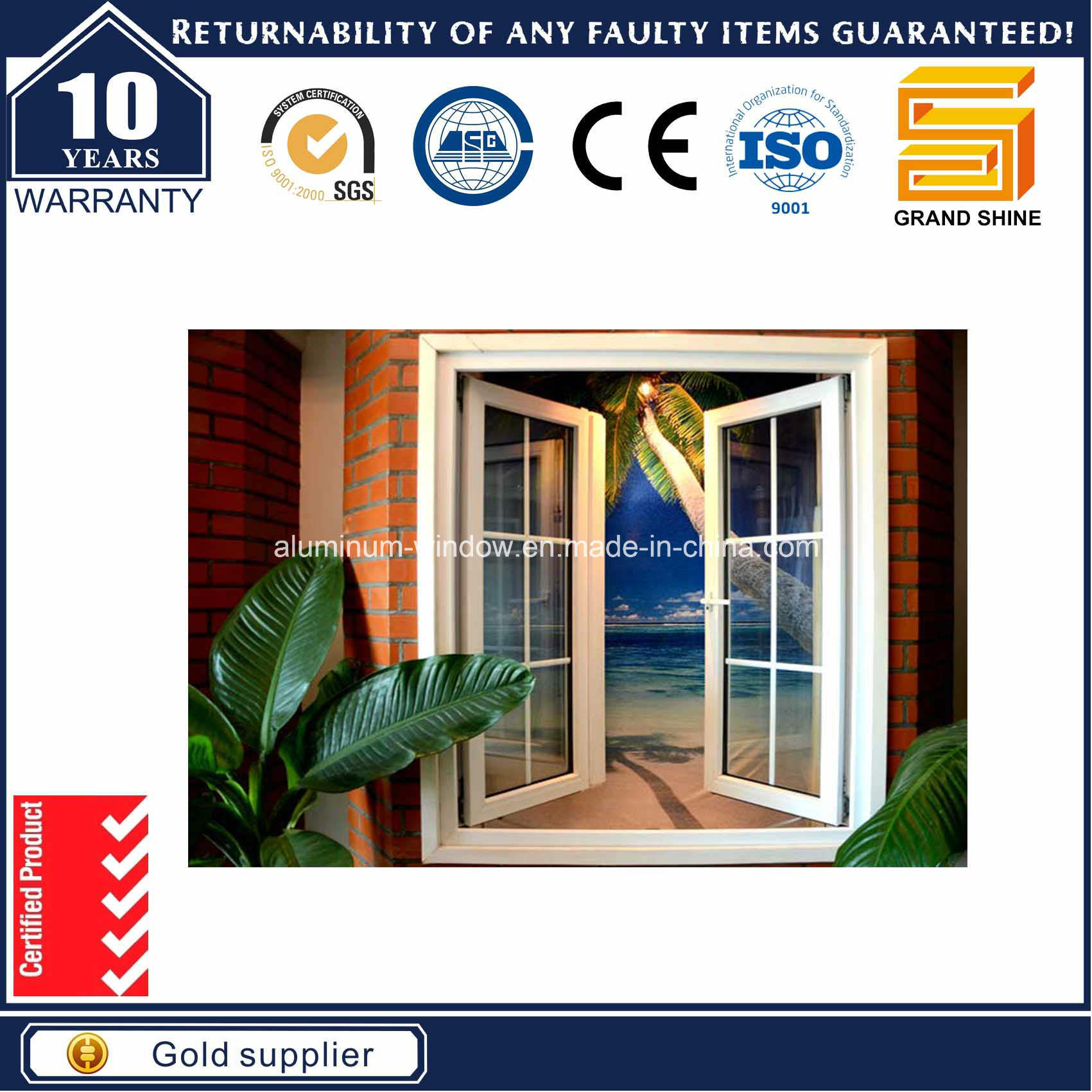New Design Outward Casement Window Grill Design (6789 series)