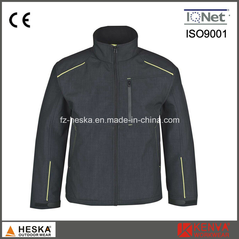 New Design Melange 3 Layer Men′s Softshell Jacket