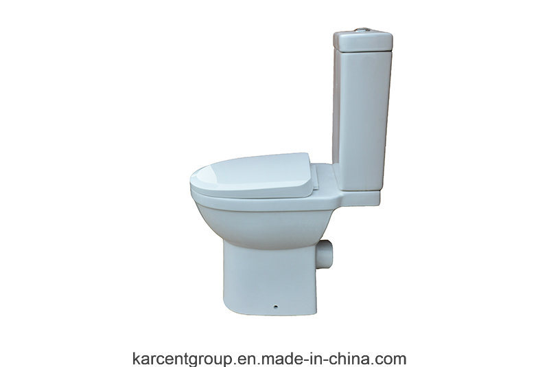 Two Piece Ceramic Toilet Ce Washdown Water Closet 00104 Disable Wc