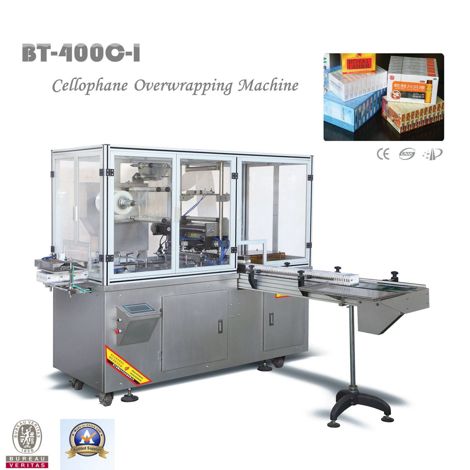 Automatic Cigarettes Cellophane Wrapping Machine