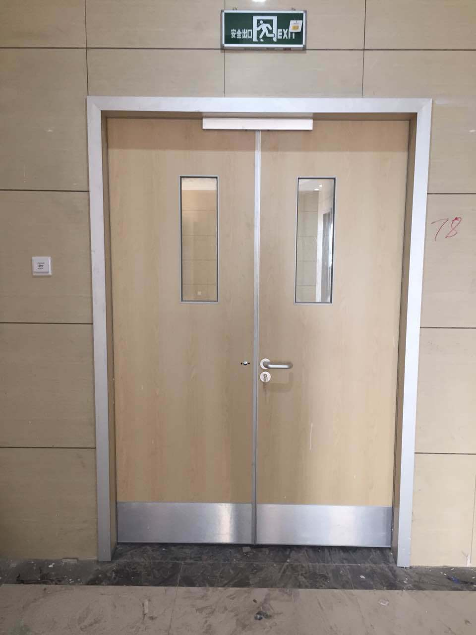 Double Swing Plywood Hospital Door Manufacturers