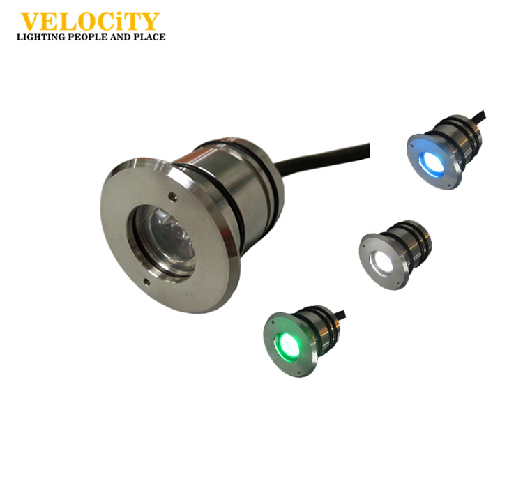 1W Color Changing Stainless Steel 316 IP68 LED Swimming Pool Light 12V/24V