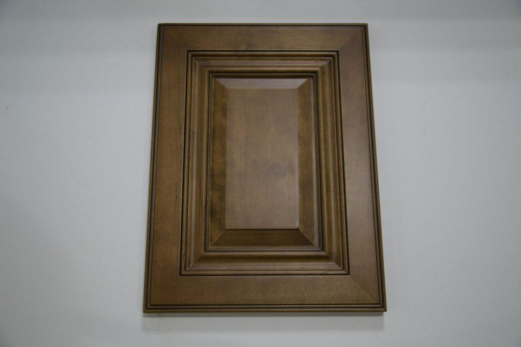 Cupboards Solid Wood Kitchen Furniture Kitchen Cabinet (Birch Stained)