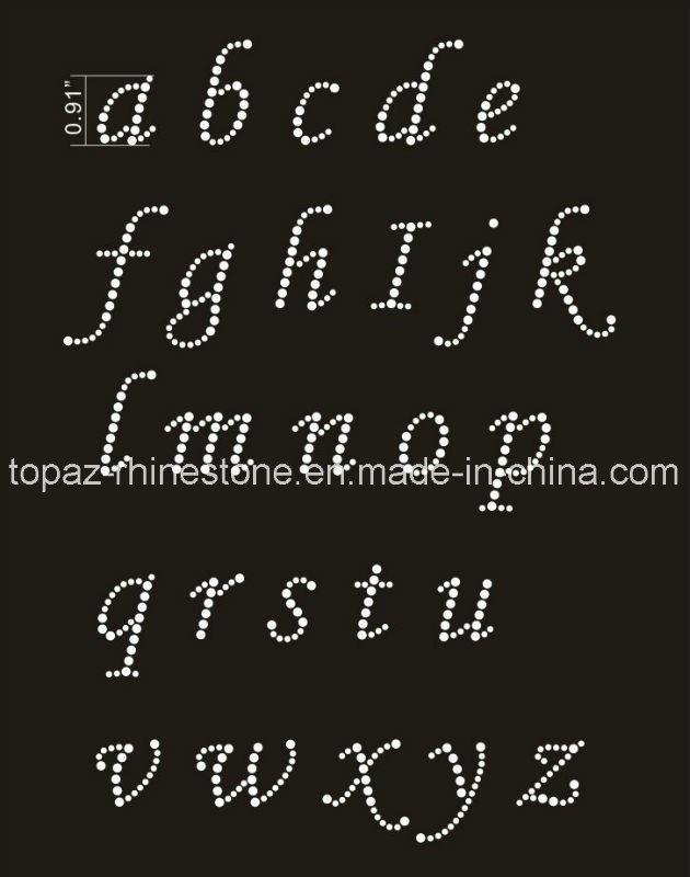 Newest Alphabet DMC Crystal Hot Fix Motif for T-Shirt (TM-81)