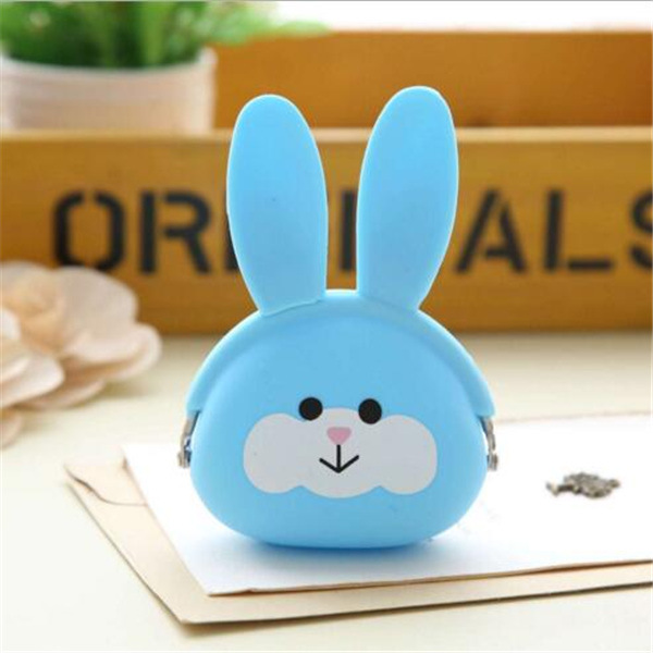 2016 New Design Cartoon Candy Color Silicone Soft Coin Bags
