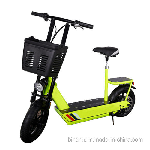 2 Wheel Double Seat Electric Bike with Rear Seat
