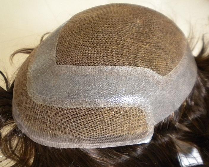 Human Hair Replacement Men′s Toupee