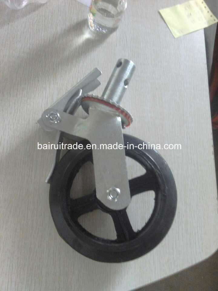6 Inch PU Castor Rubber Castor Wheel for Scaffolding