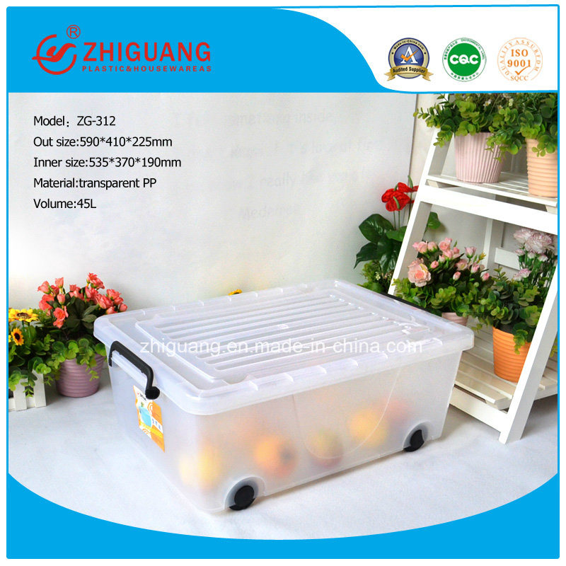 Top Quality Plastic Products PP Material Plastic Storage Box Food Container Gift Box Packing Box with Wheels