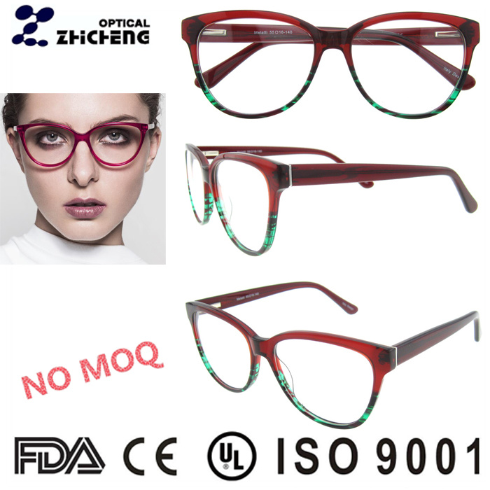 Red Large Ladies Acetate Optical Frame
