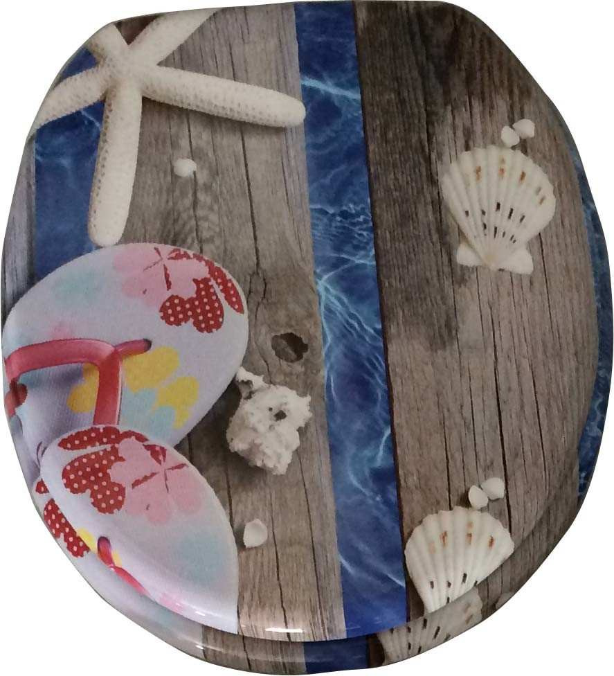 """18"""" Factory Sell Printing Moulded Wood Toilet Seat"""