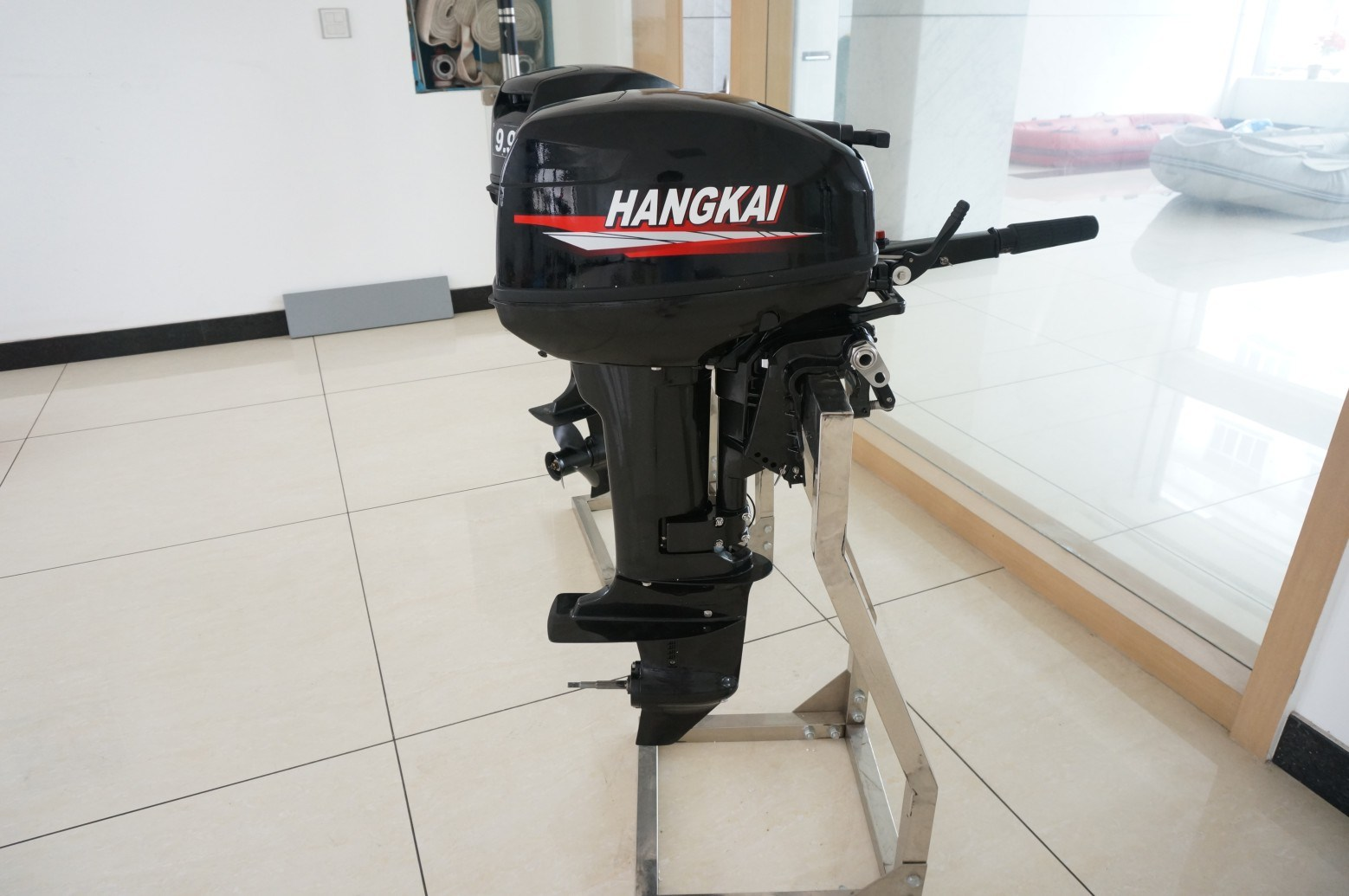 Best Powerful Hangkai 2 Stroke 15HP Outboard Boat Motor Water Cooled