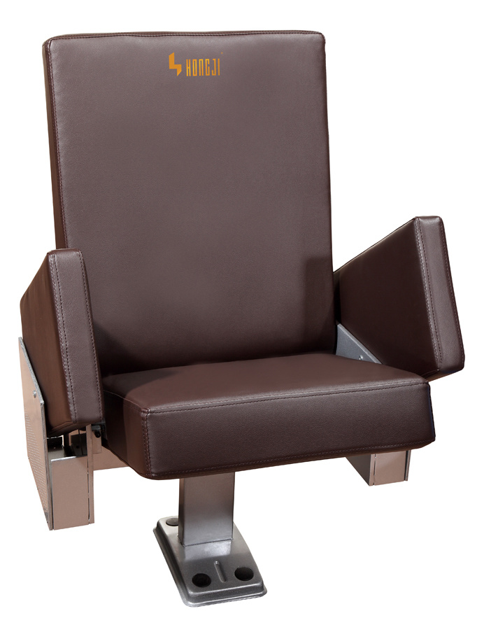 Lecture Hall Cinema Theater Seat Seating, Movable Arm Leather Auditorium Chair