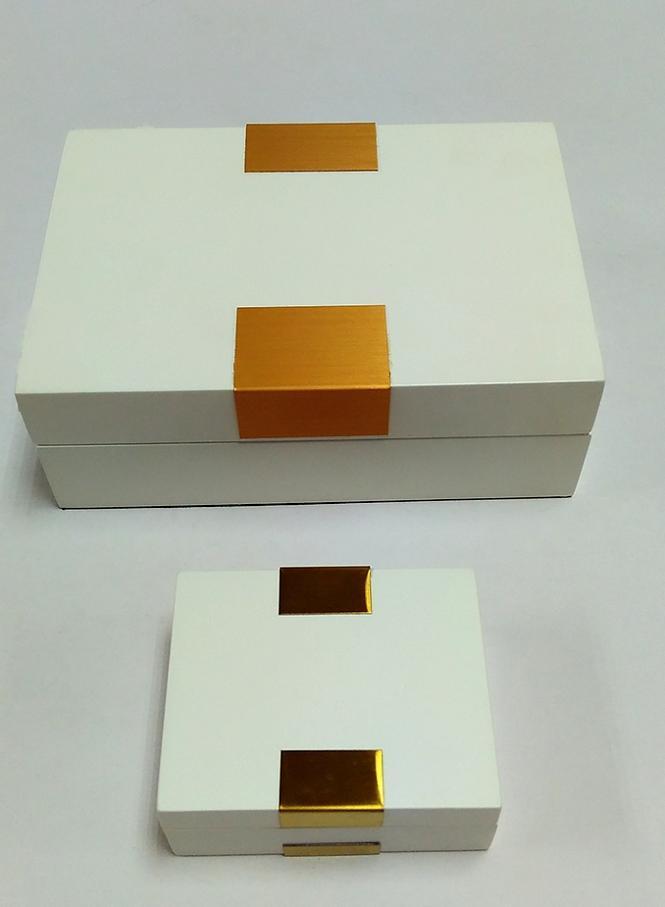 White Matt Jewelry/Storage Wooden Box