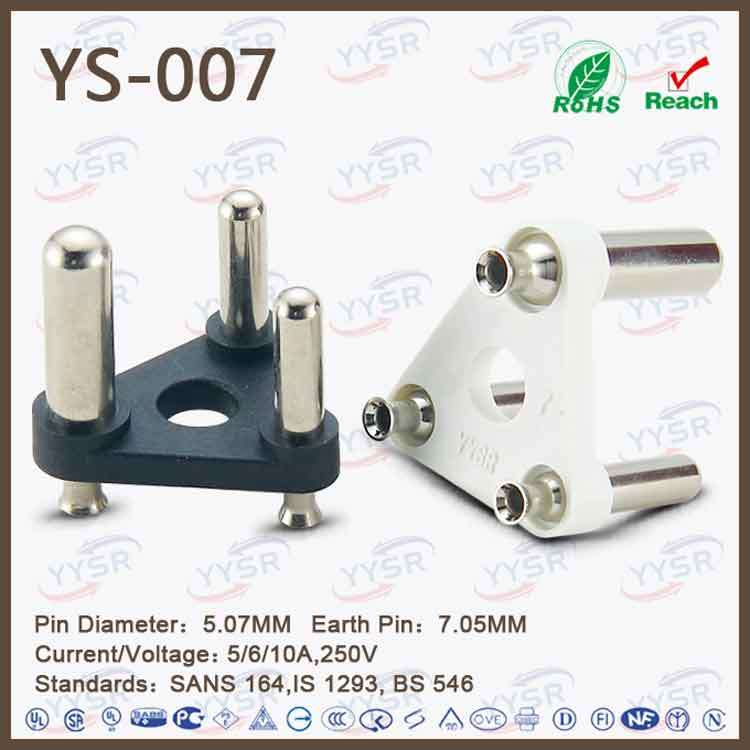 Yysr Brand 3 Pin India Power Plug