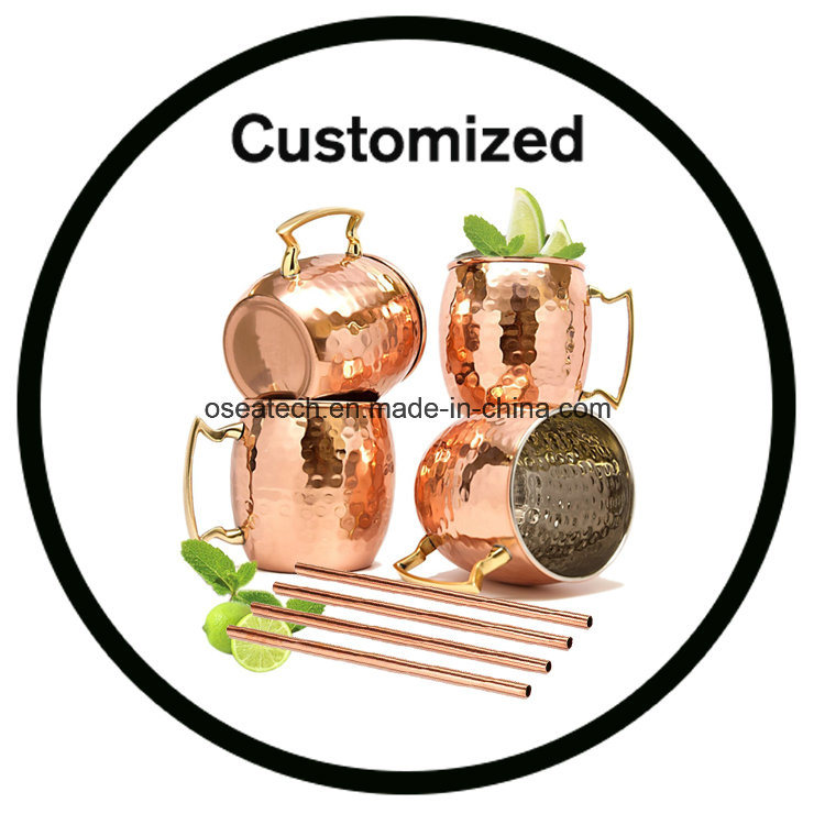 Moscow Mule Mugs Gift Set Solid Copper