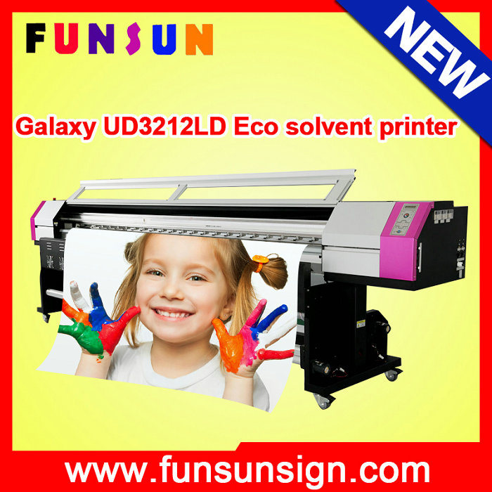2 Dx5 Printheads 1440dpi Galaxy Ud3212ld Large Format Printer (3.2m/10FT, CMYK 4 colors, 1440dpi)