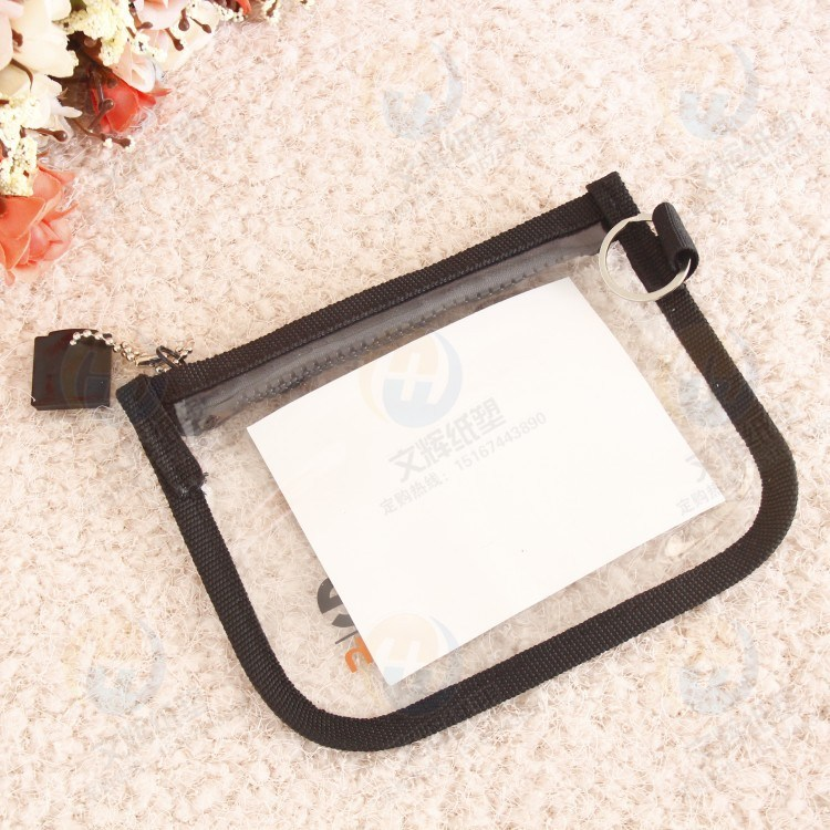 Fashion Design Waterproof Plastic Card Holder for Passport and ID Card
