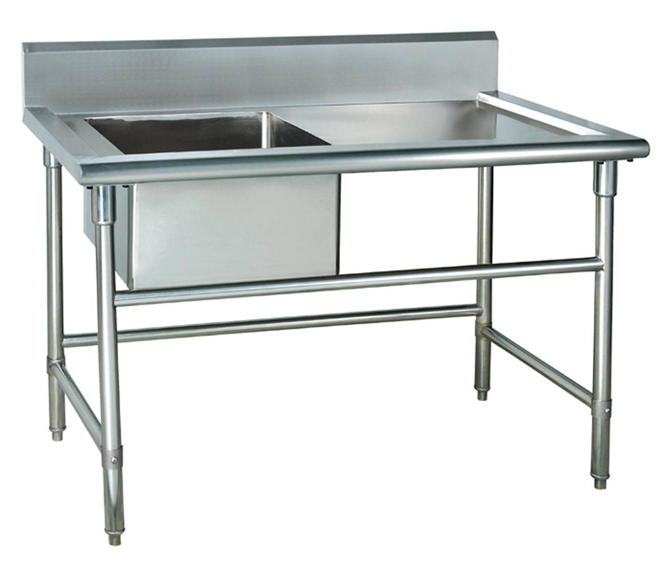 Stainless Steel Single Sink Workbench  Wash Basin