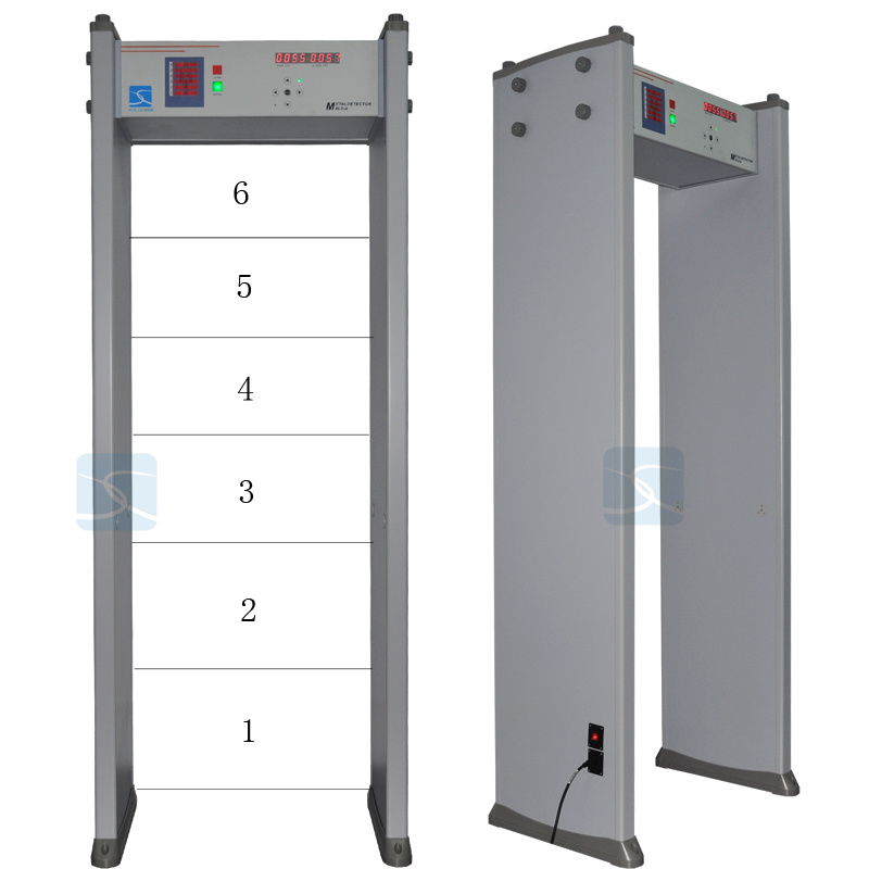 Cheapest CE Approved Multi Zone Walk Through Metal Detector
