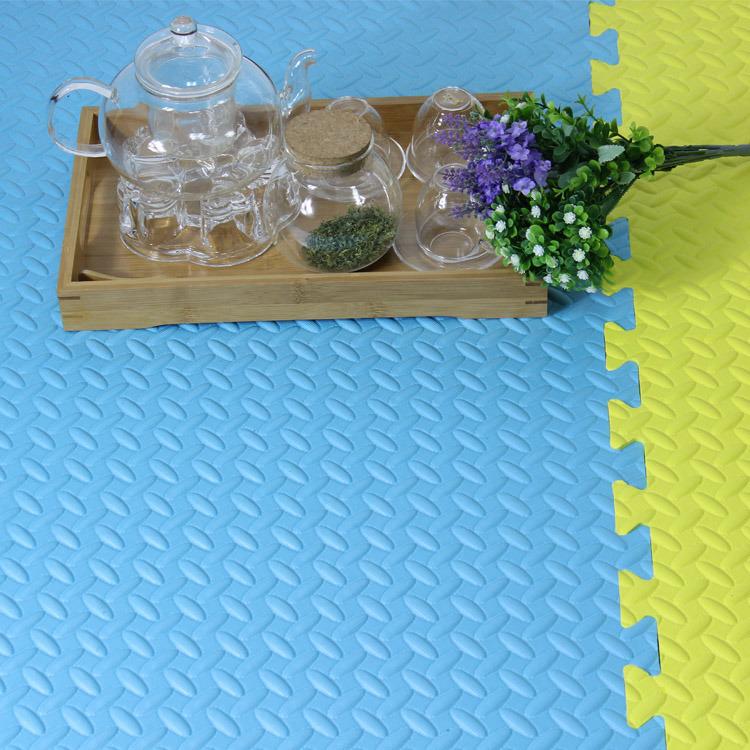 High Quality Colorful Kamiqi 100% EVA Foam Floor Mats--Leaf Texture Style