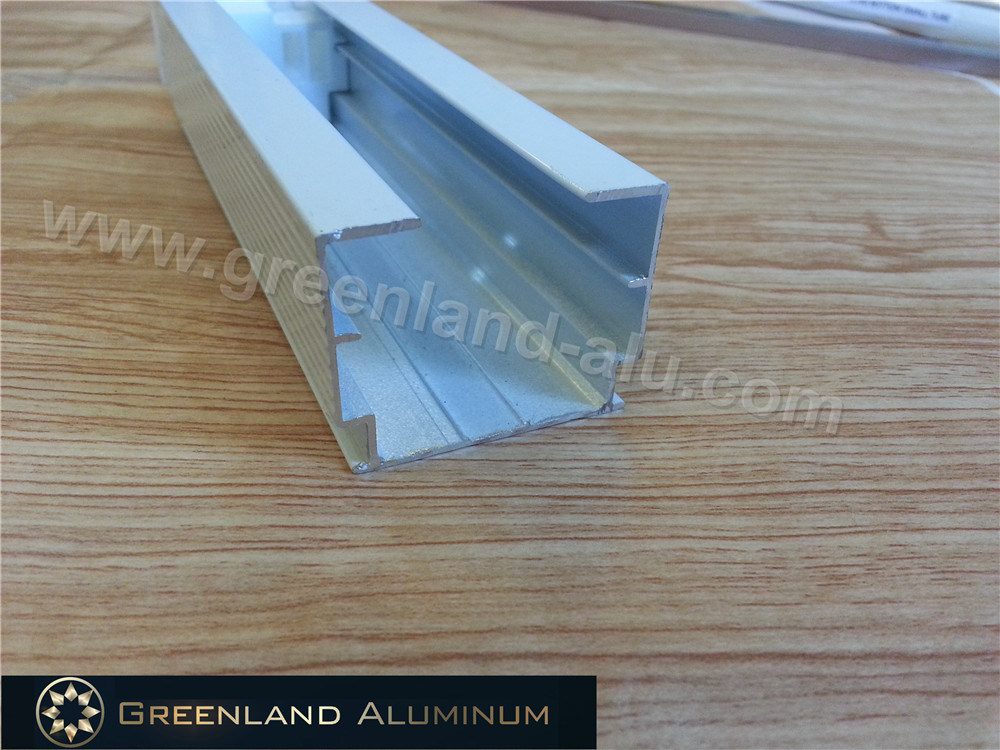 Curtain Track and Tilt-Rod for Window Blind with Powder Coating White Color