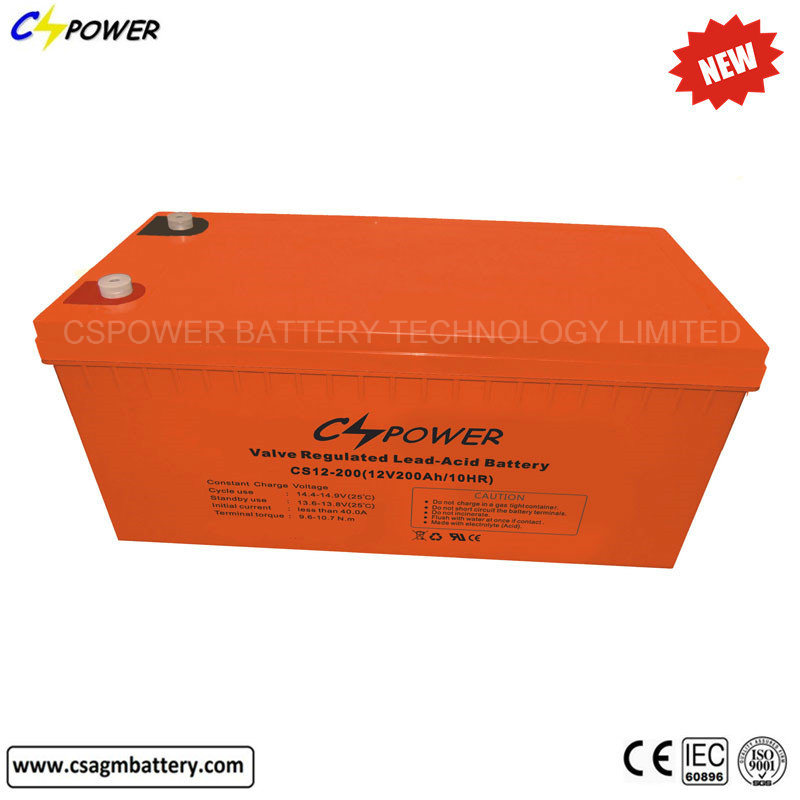 IEC Approved Solar Accumulators Gel Akkumulators 12V200ah 3years Free Replace