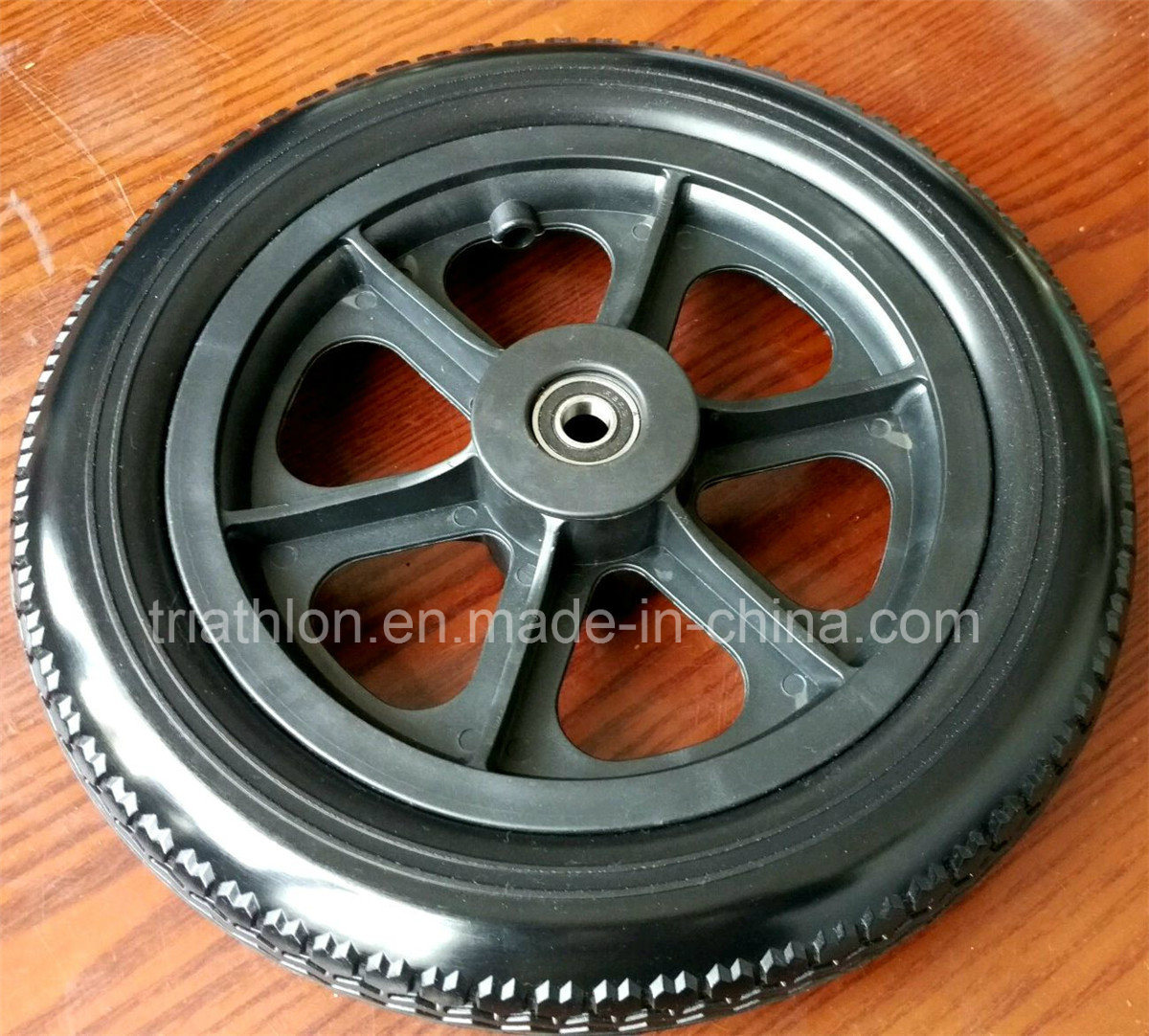 "8"" 9"" 10"" 12"" 14"" 16"" 18"" 20"" 22"" 24"" 26"" Flat Free Solid Rubber Wheel"