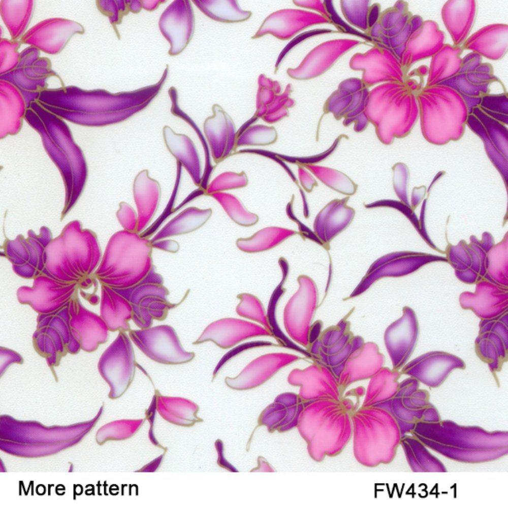 Kingtop 0.5m Width Flower Design Water Transfer Printing Liquid Image Film Wdf678