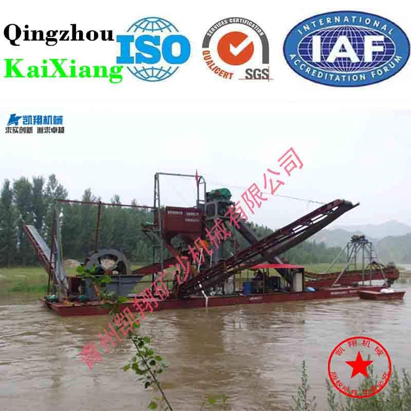 River Sand Dredging and Maintance Bucket Chain Gold Dredger, Sand Mining Machine for Sale